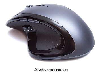 Modern Ergonomic Mouse isolated on the white background
