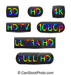 High definition signs - A set of high-definition video signs