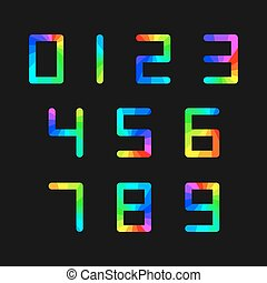 Set of rainbow numbers, vector