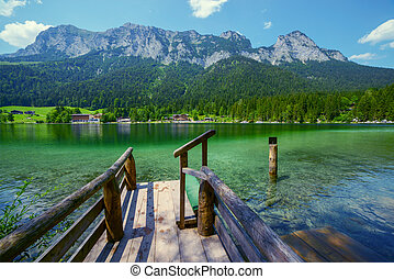 Hintersee - Amazing sunny summer day on the Hintersee lake...