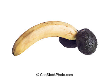 Metaphor of Male Genital - Fruit analogy of a male genital...