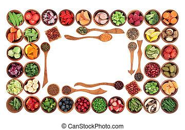 Paleo Diet Food Border - Paleo diet health and super food of...