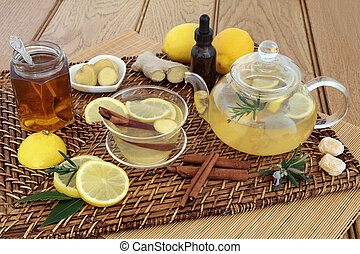Honey Lemon and Spice Drink - Honey, lemon, ginger and...