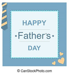Father day greeting card - Happy father day greeting card in...