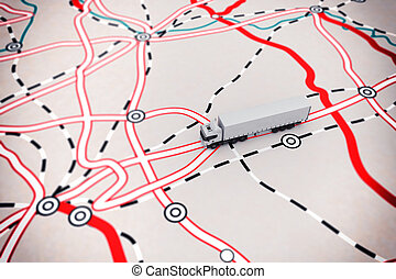 3D rendering of transport map - 3D rendering of transport...