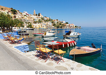 View of a Symi island, Dodecanese,Greece - SYMI, GREECE -...