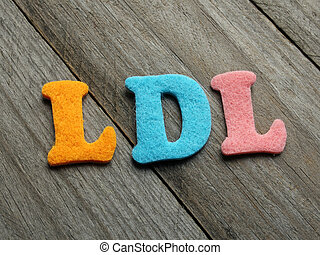 LDL Low-density lipoprotein acronym on wooden background