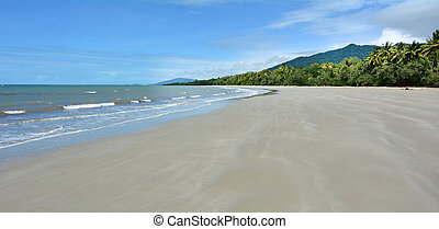 Landscape of Cape Tribulation - Panoramic landscape view of...