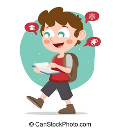 School boy illustration - Available in high-resolution and...