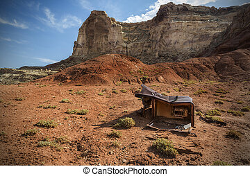 Discarded Refridgerator in the San Rafael Swell - Discarded...