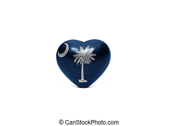 heart with flag of south carolina  state