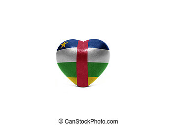 heart with national flag of central african republic