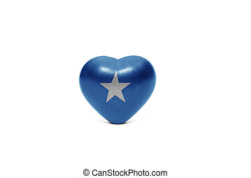 heart with national flag of somalia on the white background