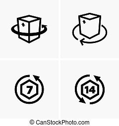 Return goods icons