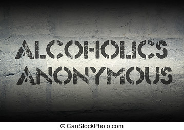 alcoholic anonymous gr - alcoholic anonymous stencil print...