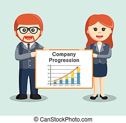 businessman man and woman