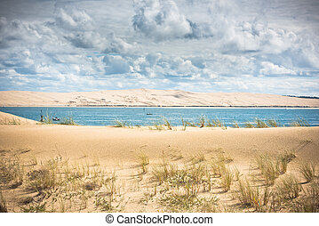 View of The Arcachon Bay, Aquitaine, France - View of The...