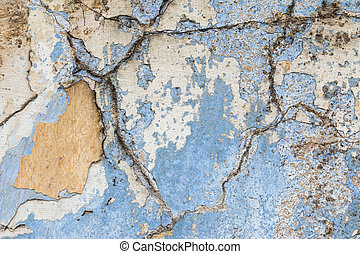 Cracked Plaster - Grunge Texture - Detail of the cracked...