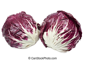Radicchio - Closeup of radicchio - isolated on white...