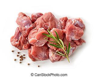 heap of raw meat cuts
