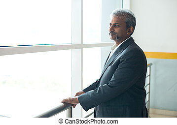 indian businessman outdoor at airport