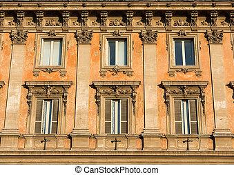 façade, de, boulding, à, piazza, Barberini,...