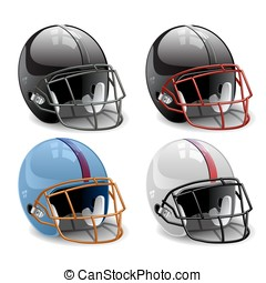 football helmet vector illustration