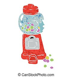 Bubble gum machine. Vector illustration