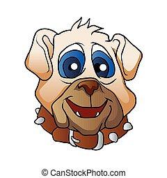 bulldog face.vector illustration