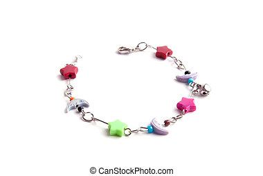 child bracelet white isolated
