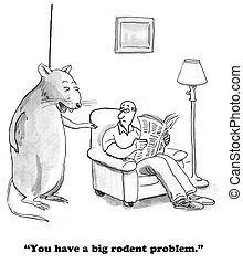 Rodent - Cartoon about a big rodent.
