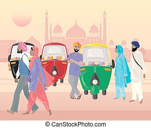 punjabi life - a vector illustration in eps 10 format of a...