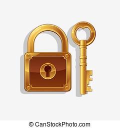 padlock vector illustration