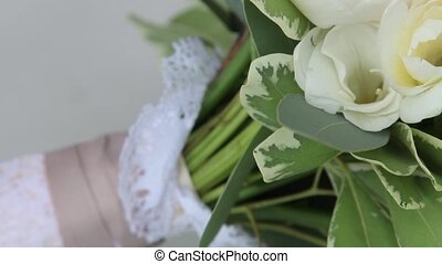 Wedding bunch from white flowers and greens - Beuatiful...