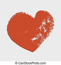 Cliche of red heart on a white background Vector art