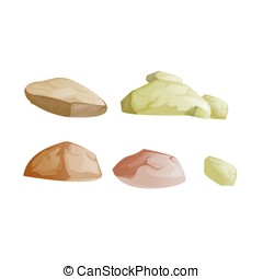 Illustration of the different rocks - Available in...