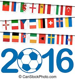 garland teams france soccer game - garland with teams of...