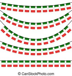 garlands with italian national colors - different garlands...