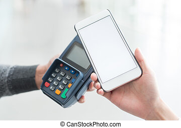 Customer pay by cellphone with empty screen, great for your...
