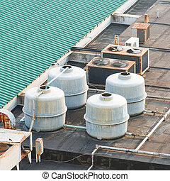Air conditioner cooling tower - Air conditioner water...