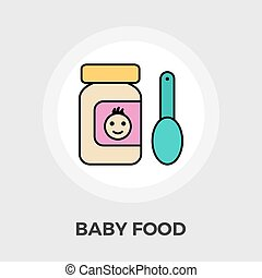 Baby Food Flat Icon - Baby Food Icon Vector Baby Food Icon...