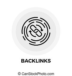 Backlinks Line Icon - Backlinks Icon Vector. Flat icon...