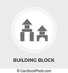 Building block icon. - Building block icon vector. Flat icon...