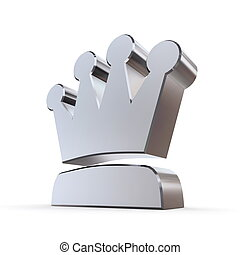 Shiny Peaked Solid Crown - shiny peaked solid 3d crown made...