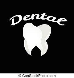 Dental tooth health treatment logo white clean