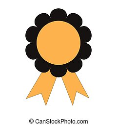 icon medal winning success of the flat for a Web site online reward