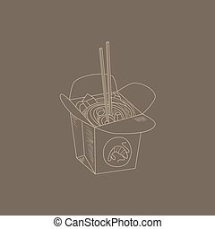 Noodles Hand Drawn Sketch - Noodles Hand Drawn Cool...