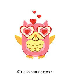 Pink Owl In Love
