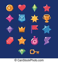 Flash Game Resources Set Of Simple Vector Design Items In...