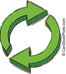 Doodle of Recycle Reload Refresh - Doodle of Green Recycle...
